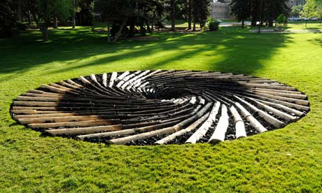 Carbon Sink by UK artist Chris Dury at the University of Wyoming. The sculpture has upset the local coal industry. Photograph: Chris Dury
